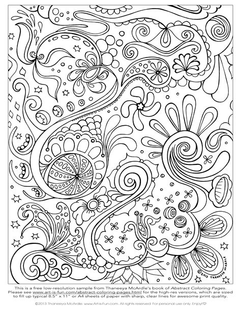 free printable abstract coloring pages for adults free