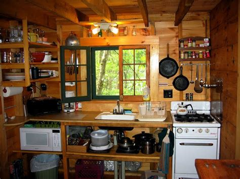 small kitchen setup tiny cabin kitchens homedesignpictures