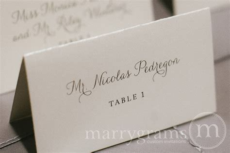 simple place card template reception place card cards thin style