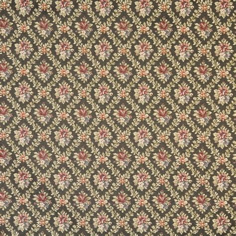 upholstery fabric tapestry f921 green red dark blue floral diamond tapestry