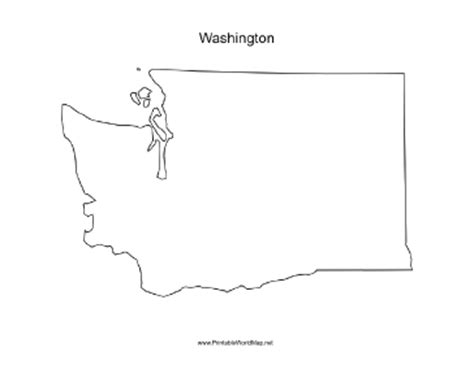 Blank Outline Map Of Washington State by Washington Blank Map