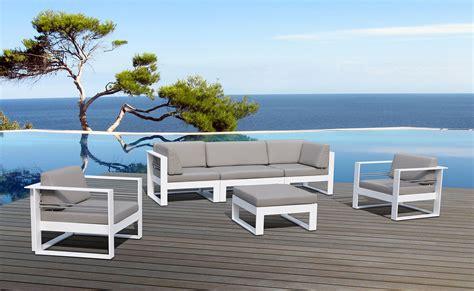 salon de jardin en aluminium 2392 salon de jardin aluminium haut de gamme 5 places st tropez