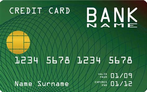 Credit Card Template Free Credit Card Vector Templates