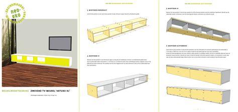 zelfbouw audio meubel werktekening tv meubel hangend zelf maken in hout of mdf
