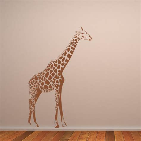 giraffe stood up animals wall art stickers wall decal