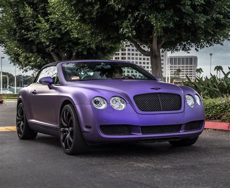 matte purple bentley bentley wrapped like a diary milk in matte purple