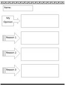 Essay Graphic Organizer Template by Common Opinion Writing Template K 5 Computer Lab