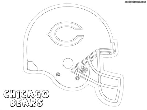 with chicago bears coloring pages