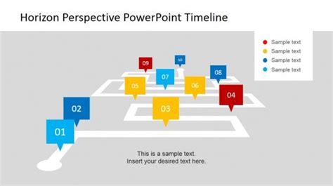 horizon powerpoint themes milestone powerpoint slide