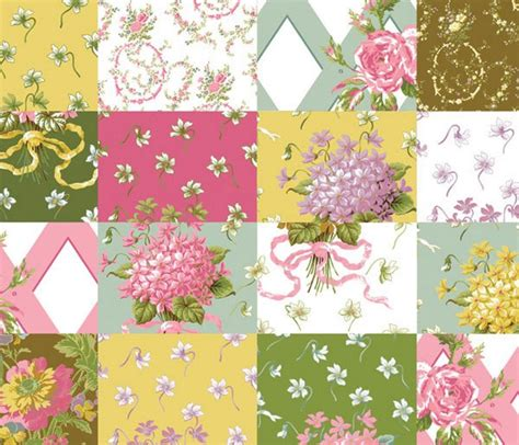 Floral Patchwork Fabric - cotton quilt fabric a griffin patchwork floral