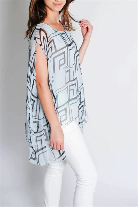 Blouse By K L A M B Y m g silk italian blouse from santa by estell