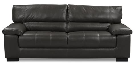 Chateau D Ax 100 Genuine Leather Sofa Charcoal The Brick Chateau Leather Sofa