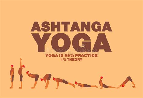 ashtanga yoga el ashtanga yoga poster stock vector illustration of step 56049326
