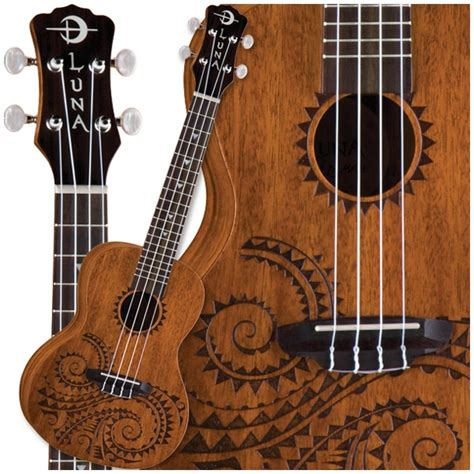 luna tattoo concert ukulele 1000 images about ornately carved acoustic guitars on