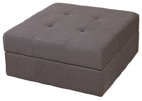 Grey Fabric Storage Ottoman Northridge Grey Fabric Storage Ottoman Contemporary Footstools And Ottomans By Great Deal