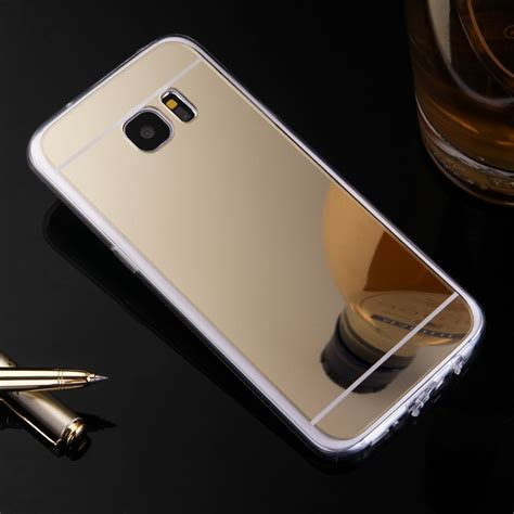 Samsung Galaxy J710 J7 2016 Luxury Mirror Bulat luxury etui for samsung galaxy j1 j5 j7 2016 ace j2 j3 s3 s4 s5 mirror tpu back phone cover