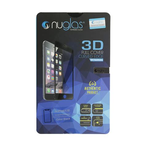 Tempered Glass 3 D For Iphone 4 nuglas tempered glass black screen protector for iphone x