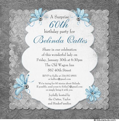 60th anniversary invitations templates free printable 60th surprise birthday party invitations free invitation templates drevio