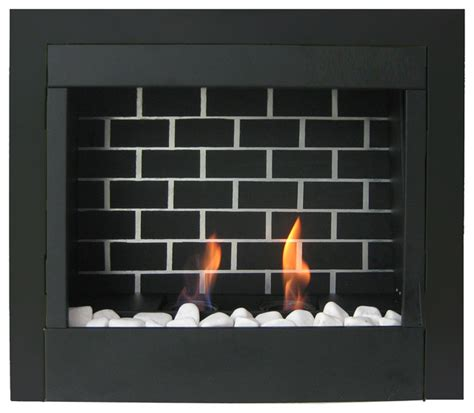 23 quot retrofit gel fuel fireplace insert modern indoor