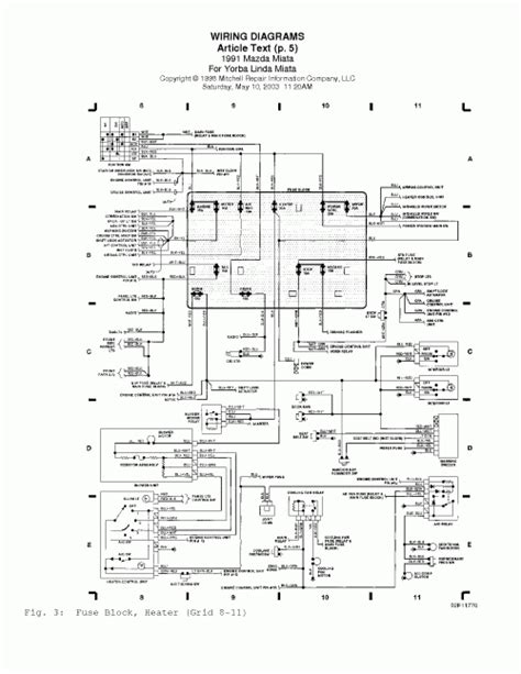 2001 mazda miata wiring diagram fuse box and wiring diagram