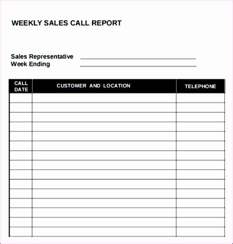 sales call list template sales call template sales call list template 12 images