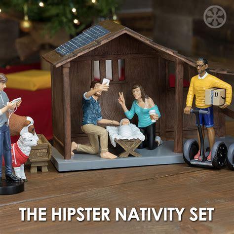 nativity sets a nativity set so the millennials can relate