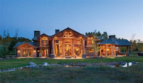 One Story Log Cabin Floor Plans by Jackson Hole Wy Handcrafted Log Home By Precisioncraft