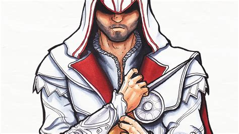Drawing With Jazza by Ezio Assassins Creed Speed Drawing
