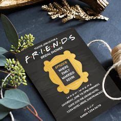 The Ultimate Friends Tv Show Bridal Shower Pinterest Friends Tv Free Printables And Bridal Friends Themed Invitation Template
