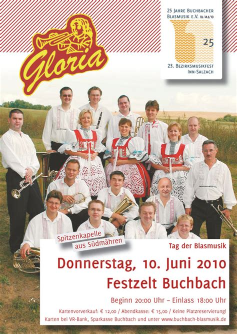 vr bank buchbach 10 juni blaskapelle gloria