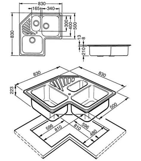 lavello angolare misure lavello angolare misure per designs ad angolo 60667 1