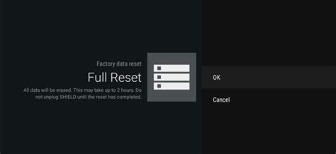 reset android tv box how to factory reset your android tv