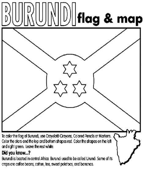 flag coloring pages crayola burundi coloring page crayola com