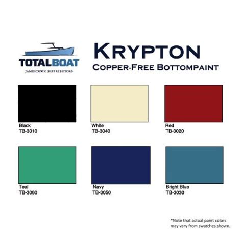what color is krypton totalboat krypton boat bottom paint copper free antifouling