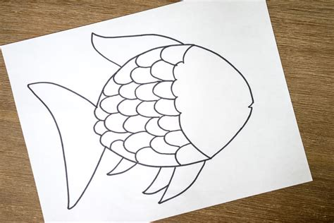rainbow fish scales template www pixshark com images
