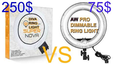 ring light supernova ring light vs aw pro dimmble ring light