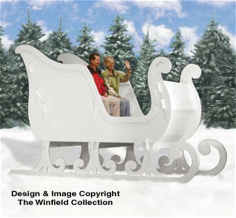 reindeer sleighs ginormas sleigh woodworking plans