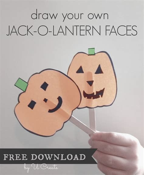 make your own jack o lantern printable blank pumpkin faces free download pinnutty com