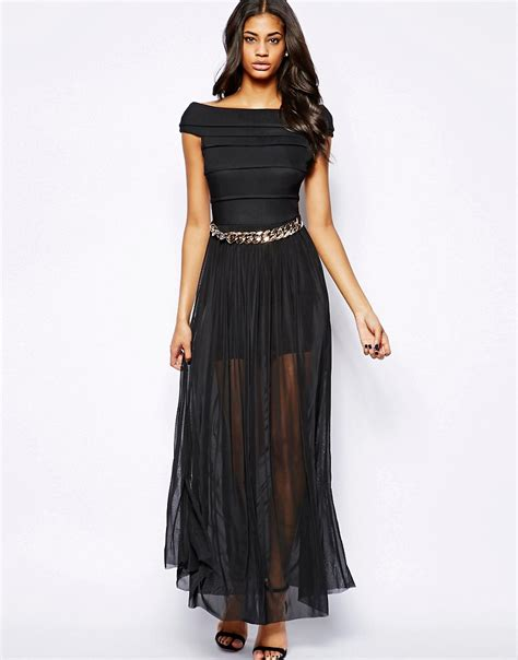 Rara Maxi maxi dress with bandage top and chain at asos