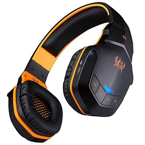 kotion each 2 in 1 bluetooth wireless gaming headset bass b3505 black orange