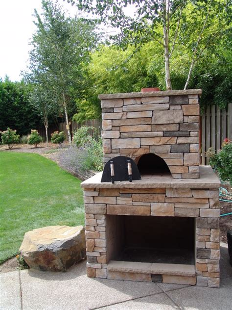 pizza oven traditional patio portland by brown