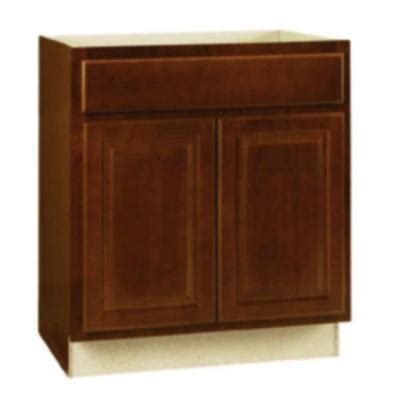 hton bay 30x34 5x24 in sink base cabinet in cognac