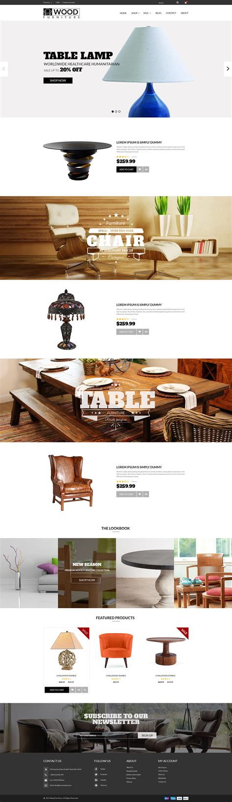 shopify themes parallax parallax shopify template for furniture decor store on