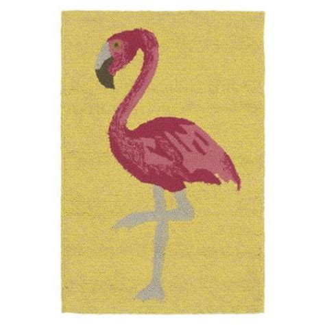 flamingo rug kaleen rugs indoor outdoor beachcomber flamingo yellow rug 2 x 3 walmart