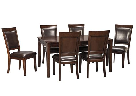 Side Chairs For Dining Room Furniture Outlet Chicago Llc Chicago Il Shadyn Brown Rectangular Dining Room Extension Table