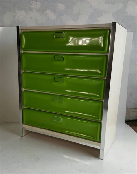 pop modernist plastic front chest of drawers in the manner