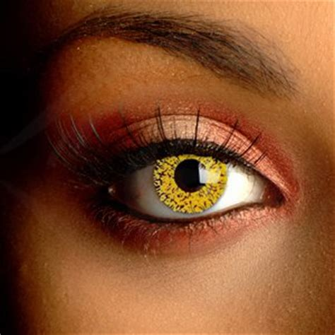 gold contact lenses