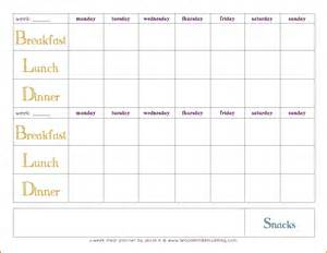 two week meal plan template 2 week blank planner calendar template 2016