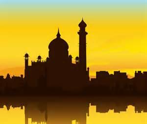 indian building taj mahal silhouette vector graphic hive
