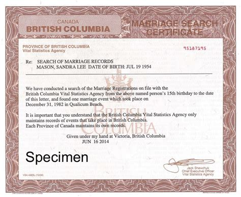 Canadian Marriage Certificate Records Search Of Marriage Records To Prove Freedom To